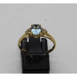 Bague Or avec Diamant et Topaze