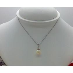 Collier et Pendentif avec Perle et Diamant