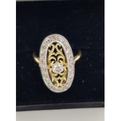 Bague Marquise en or et diamants