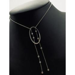 Collier Cravate avec Diamant