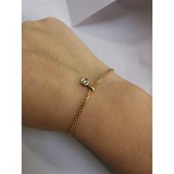 Bracelet Double Maille Forcat avec diamant