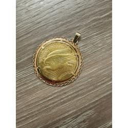 Pendentif Pièce 20 Dollars Américain 1910