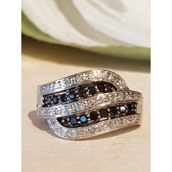 Bague Or avec Diamant Noir et Blanc