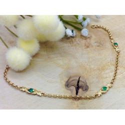 Bracelet Or avec Emeraude