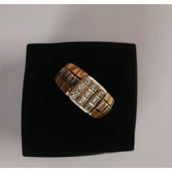 Bague Chevalière diamants 19k