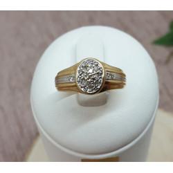 Chevalière diamants