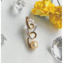 Pendentif Or perle et diamants