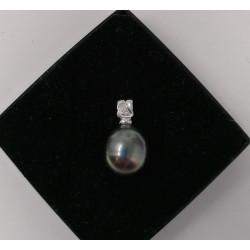 Pendentif Perle de Tahiti et diamant