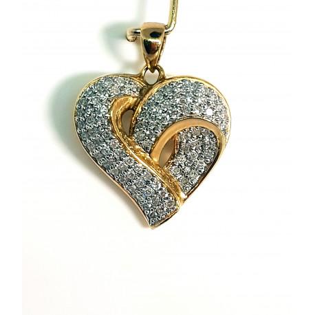 Pendentif Or avec Diamant