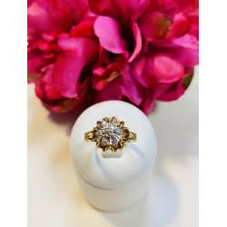 Bague Marguerite 2 Ors avec Diamant