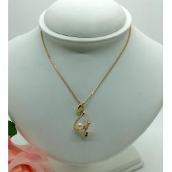 Bague 2 Ors avec Perle et Diamant
