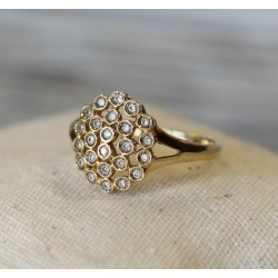 Bague en Or jaune 18k avec Diamants