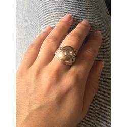 Chevalière 2 Ors avec Diamant