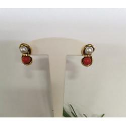 Boucles d'oreille Or avec Perles