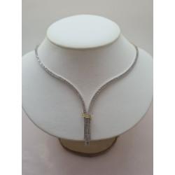 Collier Cravate 2 Ors avec Oxyde