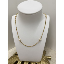 Collier Or avec Perle