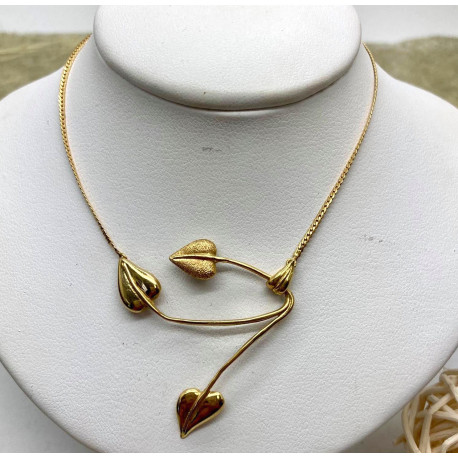 Collier Feuilles or