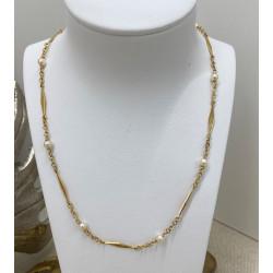 Collier Maille Filigrane Perles