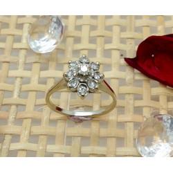 Bague Fleur avec Diamant