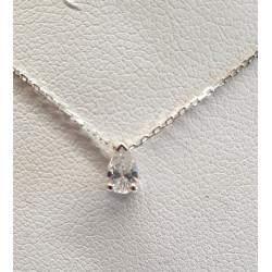 Collier Diamant Goutte d'eau