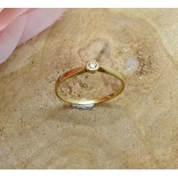 Bague Or avec Diamant Solitaire