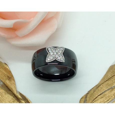 Bague Céramique avec Diamants