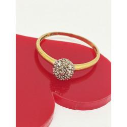 Bague 2 Ors avec Diamant