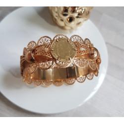 Bracelet Or avec Pièces Frappées