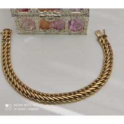 Bracelet Or Maille Russe