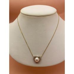 Collier Coeur Perle