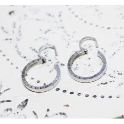 Boucles d'oreille créoles en Or blanc