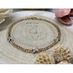 Bracelet 3 Ors avec Diamants
