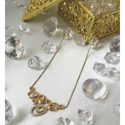 Collier 2 Ors avec Diamant