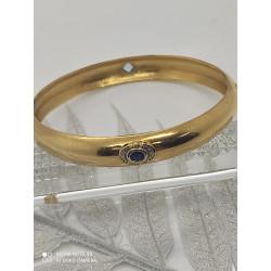 Bracelet Jonc avec Saphir et Diamant