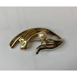 Broche 2 Ors avec Perle