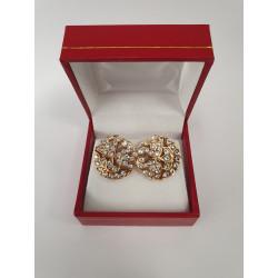 Boucles d'Oreille Or avec Diamant