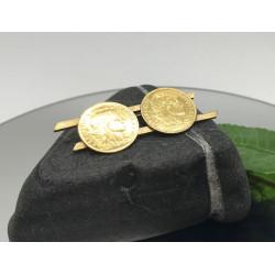 Broche avec Pièces 10 francs de 1907 et 1906