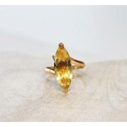 Bague en Or jaune avec Citrine