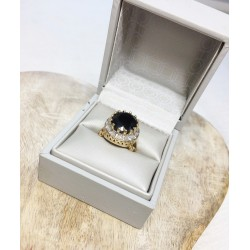 Bague Maty en Or jaune avec Saphir et Diamants