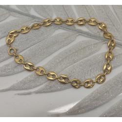 Bracelet Or Maille Grain de Café