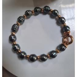 Bracelet Or avec Perle de Tahiti