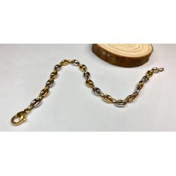 Bracelet Maille Grains Café