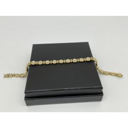 Bracelet 2 ors et diamants