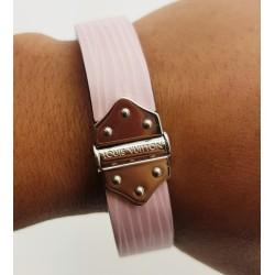 Bracelet en cuir rose Louis Vuitton